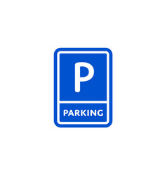 parking zone roadsigns isolated on white backgroun vector image