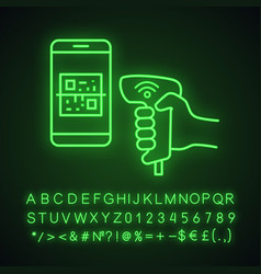Payment qr with code scanner scanning phone vector