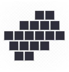 photo frame mockup set vector image