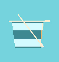 Pixel icon in flat style tea cup vector