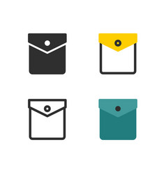 pocket with button icon vector image