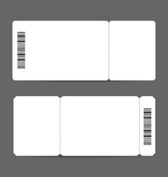 Realistic detailed 3d white mockup tickets set vector