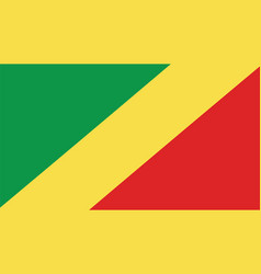 Republic of the congo flag for independence day vector
