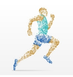 runner marathon athletics competition vector image