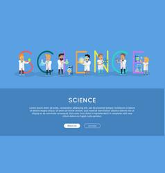 Science banner science alphabet vector
