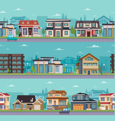seamless cityscape template vector image
