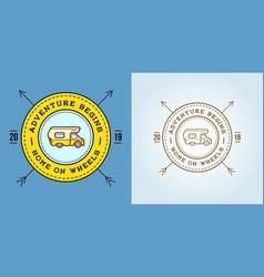 set camper car logo design template home on vector image