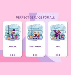 set mobile app page design screen set on vector image