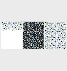 set of 2 star patterns and 1 layout vector image