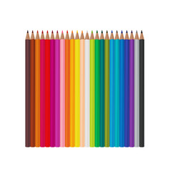 set of 24 realistic colored pencils isolated on a vector image