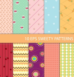 set sweety graphic pattern vector image