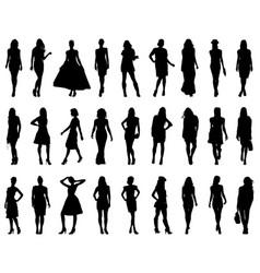 Silhouettes fashion vector