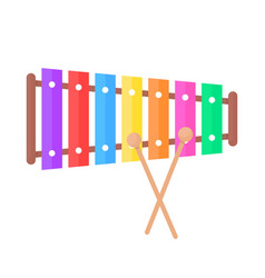 Simple xylophone toy icon vector