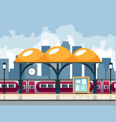 Small railway station vector