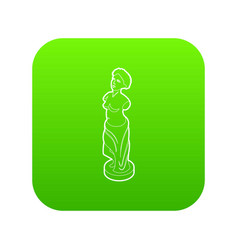 Statue icon green vector