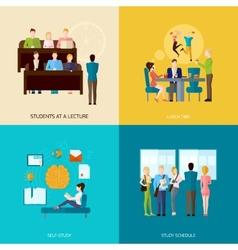 Students Concept Set vector
