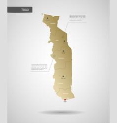 stylized togo map vector image