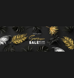 summer sale bannerbeautiful background with black vector image