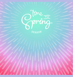 time to spring vector image