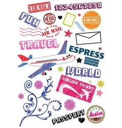 travel sketch vector image