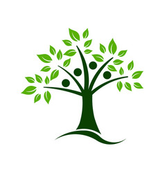 tree teamwork vector image