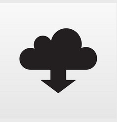 update cloud icon flat download arrow symb vector image