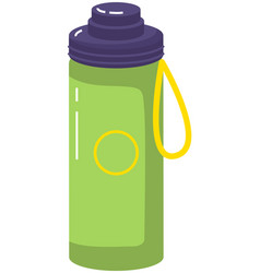 Vacuum thermos with lid and handle vector