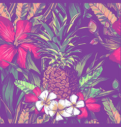 Wedding seamless pattern design with exotic vector