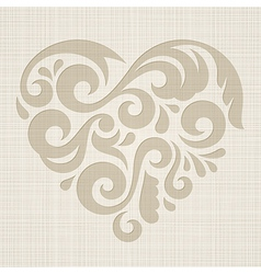 Abstract Heart on a textured background vector image vector image