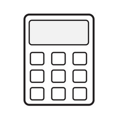 calculator icon on white background calculator vector image vector image