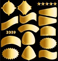 gold medals and badges vector image vector image