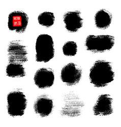 grunge paint design element set vector image vector image