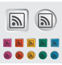 Rss icon 2 vector image vector image