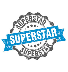 superstar stamp sign seal vector image