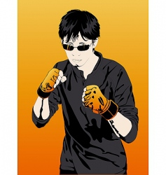 young boy boxer extreme sports vector image vector image