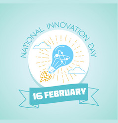 16 february national innovation day vector image