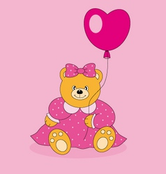 bear with a balloon vector image vector image