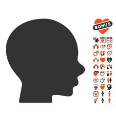 boy profile icon with dating bonus vector image vector image