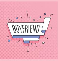 boyfriend retro design element in pop art style vector image