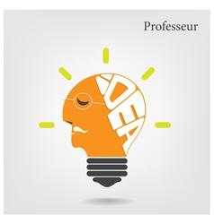 Creative light bulb and education or business idea vector image