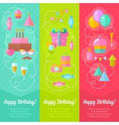 Festive birthday congratulation cards vector image