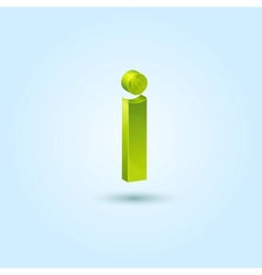 Green info symbol isolated on blue background vector image vector image