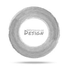 Hand drawn watercolor light gray circle design ele vector image vector image