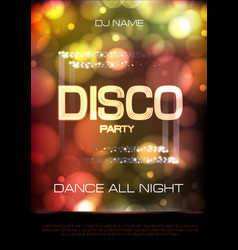 neon sign disco party poster vector image