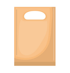 paper bag with handle in colorful silhouette over vector image