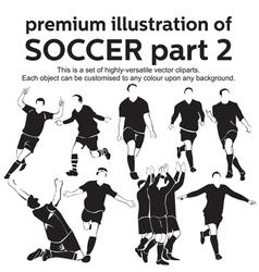 Premium Soccer Part 2 vector image