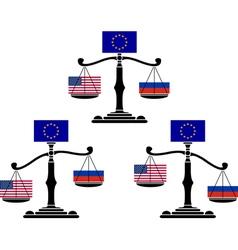 set of EU scales vector image vector image
