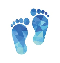 sole of the foot icon vector image