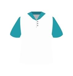 white polo shirt vector image