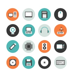 413flat computer equipment iconVS vector image vector image